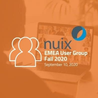Nuix EMEA User Group Autumn 2020